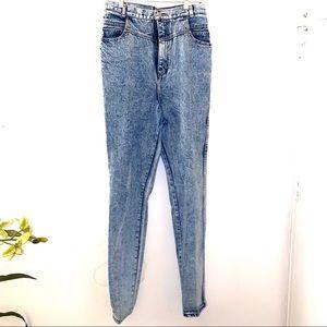 80's 90's vintage acid wash high rise mom jeans 30